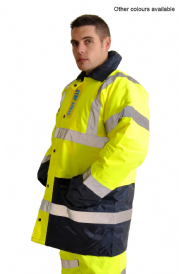 High Visibility Warning Parka Coat